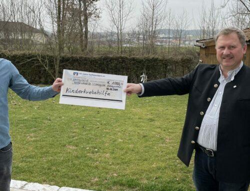 KLJB Oberbergkirchen spendete wieder an Kinderkrebshilfe