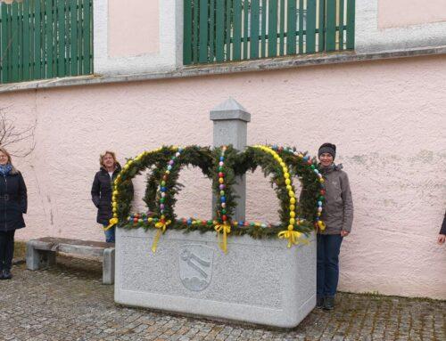 Zangberg wird durch Osterbrunnen geschmückt