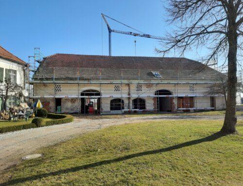 Umbau des ehem. Raiffeisengebäudes am Pfarrhof in Lohkirchen bietet einmaligen Ausblick