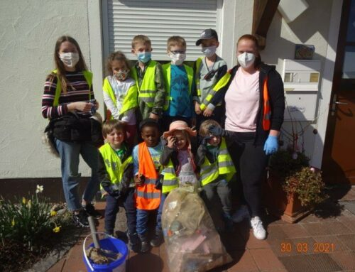 Kita Schönberg sammelte Müll