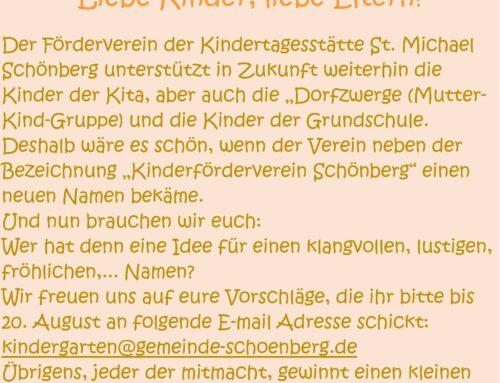 Name für Schönberger Kinderförderverein
