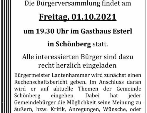 Bürgerversammlung in Schönberg