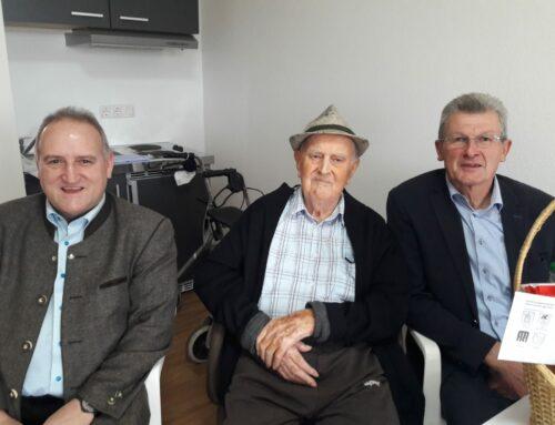 Georg Huber feierte 90. Geburtstag