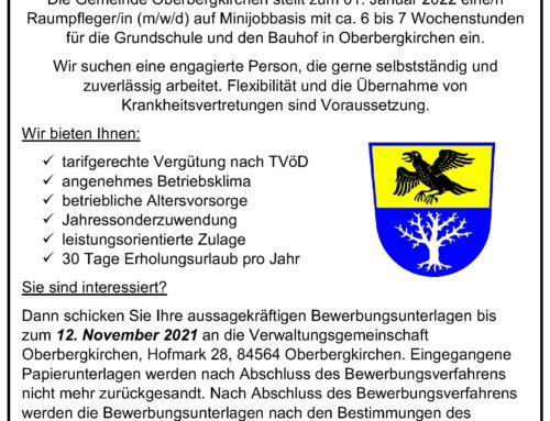 Stellenausschreibung der Gemeinde Oberbergkirchen